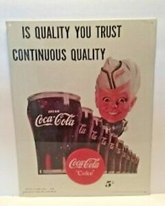 11 In x 14 In Coca-Cola Metal Sign Featuring THE SPRITE BOY