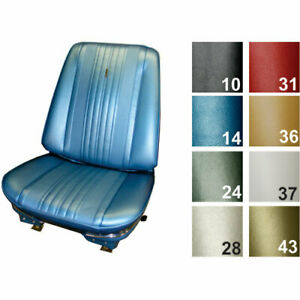 Pui 70as10u Standard Bucket Seat Cover 1970 Chevelle Black