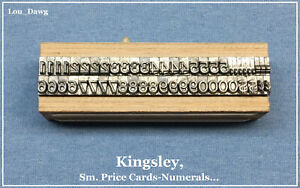 Kingsley Machine Type Sm Price Card numerals Hot Foil Stamping Machine