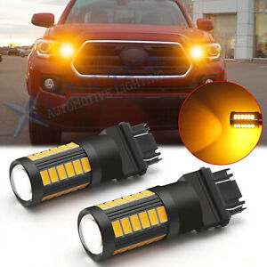 3156 3157 Amber Led Turn Signal Parking Light Bulbs Super Bright Projector Lens