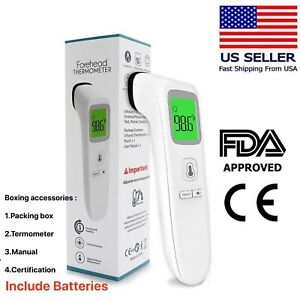 Fda Non contact Infrared Forehead Thermometer Temperature Screening Medical New