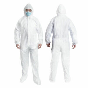 High Quality 2x large Protective Coverall Isolation Suit With Hood Usa Stock