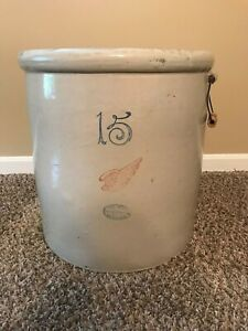 Antique Red Wing Stoneware Crock 15 Gallon Excellent Condition