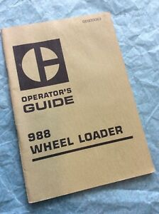 Cat Caterpillar 988 Wheel Loader Operation Operator Owner Guide Manual End Front