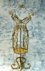 Mini Wire Metal Dress Form Mannequin Table Top Decorative Candle Holder 19