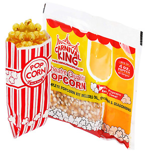 4 Ounce Popcorn Machine Popcorn Packets 24pcs 100 Paper Popcorn Bags And Pre