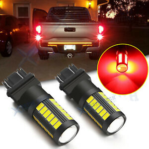 Red Led Brake Stop Tail Parking Light Bulbs For Chevy Silverado Tahoe Colorado