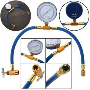 R134a To R12 r22 Can Tap Gauge Hose Recharge Refrigerant Ac Conditioning
