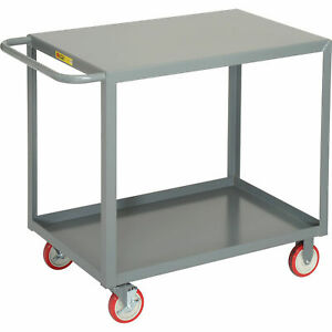 Little Giant All Welded Service Cart 2 Flush Shelves 24 X 36