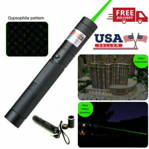 532nm 50miles Pointer Pen Burning Beam Green Light Usa High Power Military Laser