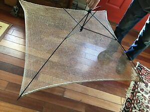 Antique Herb Drying Rack Fold Up Made With Netting 36 Sq Hangs