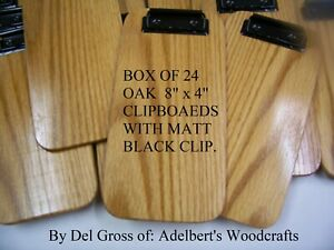24 Small Wooden Clipboard Check Presenter Great For Out Door Dining Red Oak Usa
