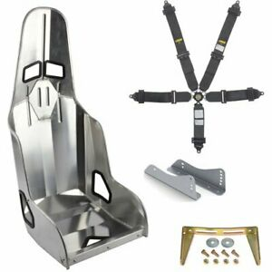 Jegs 702262k Race Seat Harness Kit Includes Aluminum Race Seat Black 5pt Cam