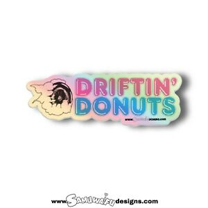 Jdm Stickers Pack Drifting Donuts Street Racing Samuwaifu Holographic