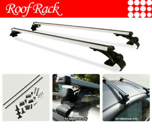 Universal Naked Window Frame Rooftop Rack Aluminum Cross Bars Luggage Carrier