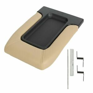 Center Console Armrest Latch Lid Fit 99 07 Chevy Silverado Beige 19127366