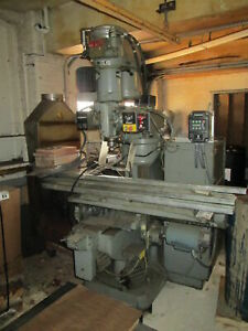 Bridgeport Textron 34 Table Series 1 Variable Speed 2hp 3ph Cnc Milling Machine