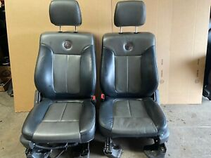 2013 Ford F 150 Harely Davidson Front Leather Bucket Seats Heated And Cooled