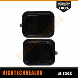 Outside Full Door Handle Front Pair Heavy Duty Metal For Jeep Wrangler 1997 2006