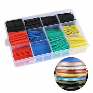 Test Equipment Tube Cable Sleeve Wire Wrap Kit Heat Shrink Tubing Assorted 2 1