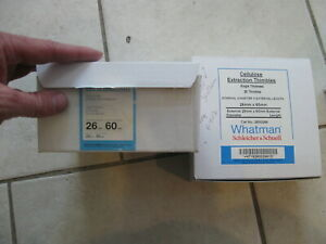 New Lot Of 35 Whatman Cellulose Extraction Thimbles for Soxtherm 26mm X 60mm