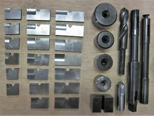 Piloted Spade Drill Set For Bridgeports And Small Lathes 1 To 2 1 2 Blade Dia