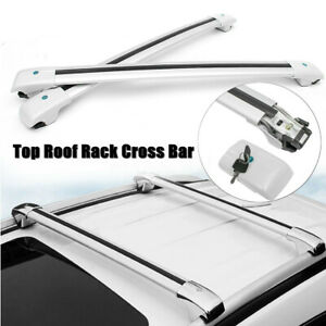 Top Roof Rack Cross Bar Assembly Luggage Carrier Sliver For Jeep Cherokee 14 19