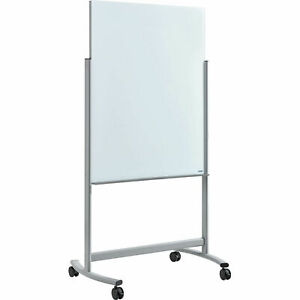 Mobile Double Sided Glass White Board 36 w X 48 h