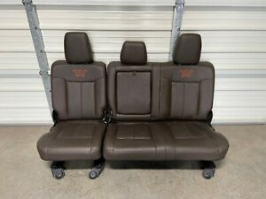 1999 2016 Ford F250 F350 F450 Rear King Ranch Seat 60 40 Nice Brown