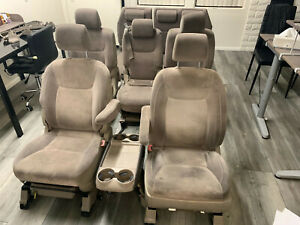 Toyota Sienna Front Middle Rear Seats Fabric 7 Pieces Set