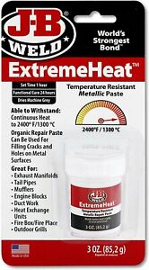 J b Weld 37901 Extreme Heat High Temperature Resistant Metallic Paste 3