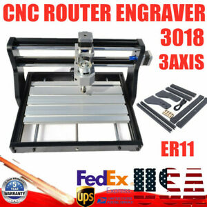 Diy Cnc3018 Pro Router Kit Engraving Laser Machine Grbl Control 3 Axis Collet Ce