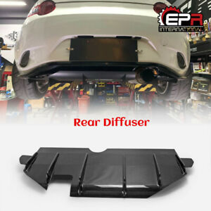 For Mazda Mx5 Miata Nd Ve style Carbon Fiber Rear Bumper Under Diffuser Lip