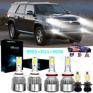 For Toyota 4runner 2006 2009 6000k Led Headlight Hi lo Foglight Combo 6 Bulbs