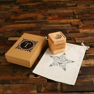 Personalized 4pc Maple Wood Stackable Desktop Organiser Cloth Bag Kraft Box