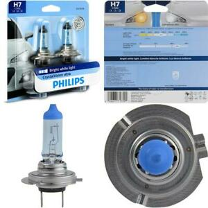 Philips H7 Crystalvision Ultra Upgraded Bright White Headlight Bulb 2 Pack