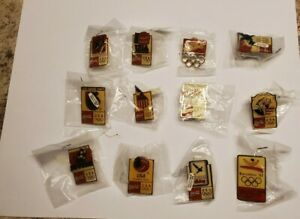 1992 BARCELONA SPAIN OLYMPIC GAMES COCA COLA PIN COLLECTION (12) NEW IN BAGGIES