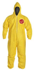 Dupont Tychem Qc127s Chemical Hazmat Coverall Hood Sold By Case Of 12