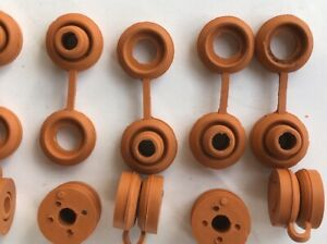 10x Hii Temp Orange Anti Vibration Exhaust Hanger Rubber Snapper Grommet