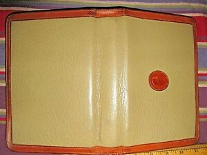 Dooney Bourke 6 Ring Agenda Zip Planner Taupe saddle Brown Leather Purse Size