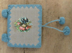 Antique 19th C Sewing Punch Paper Die Cut Bristol Board Needle Case Book 5 Page