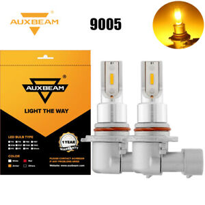 Auxbeam 9005 Hb3 Led Headlight Kit Fog Light Bulb 3000k Driving Drl Lamp Yellow