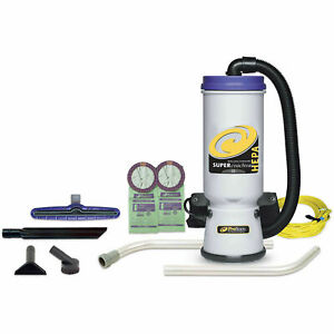 Proteam 174 10 Qt Super Coachvac Hepa Backpack Vac W 14 Floor Tool Wand