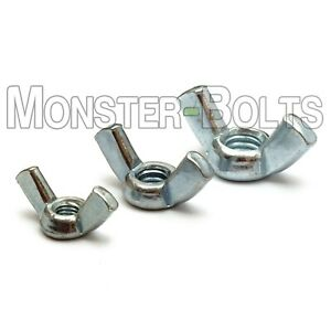 Forged Wing Nuts Zinc Plated Steel Type A 8 32 10 32 10 24 1 4 20 5 16 18