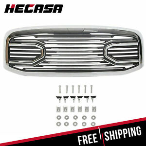 For 06 09 Dodge Ram 2500 3500 06 08 1500 Front Hood Chrome Big Horn Grille Shell