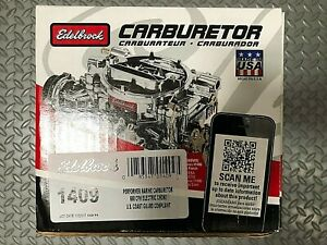 Edelbrock 1409 Marine Carburetor 600 Cfm With Electric Choke Zinc dichromate Fi