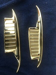 1961 1964 Chevy Impala Biscayne 24k Gold Plated Door Handle Scuff Guards