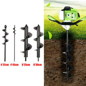 Garden Planting Auger Spiral Hole Drill Bit Small Earth Planter Post Hole Digger