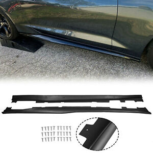 T6 Style Side Skirts Rocker Panels Extension For Chevy Camaro Ss Rs Gen6 16 up