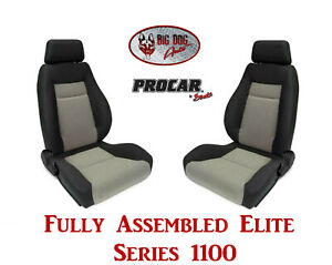 Procar Full Bucket Seats 80 1100 75 Elite 1100 Series For 1989 95 Ford Bronco